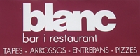Cartell del nou bar i restaurant BLANC