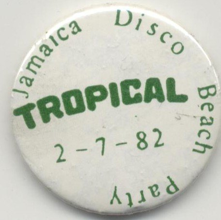 Jamaica Disco Beach Party celebrada en la Discoteca Tropical de Gavà Mar (2 de Julio de 1982)