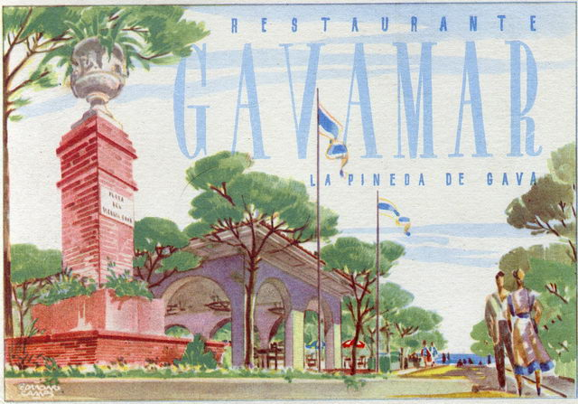 Targeta del Restaurant Gavamar (part frontal)